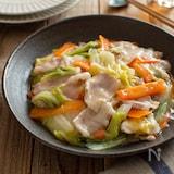 豚バラ肉と白菜のとろみ炒め。とろける美味しさ!簡単おかず。