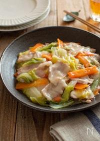 『豚バラ肉と白菜のとろみ炒め。とろける美味しさ!簡単おかず。』