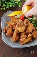 包丁なしで鶏胸柔らか!レモンが合う生姜と出汁のズボラ唐揚げ