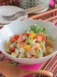 サーモンと新玉ねぎのセビーチェ§わさび醤油の簡単お魚サラダ