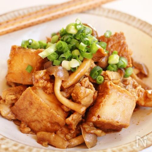 厚揚げと豚肉の甜麺醤炒め