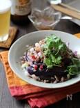 茄子とひき肉のタイ風サラダ