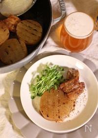 『大根と豚バラ肉の白ワイン煮』