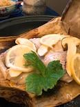 松茸と甘鯛のレモン蒸し