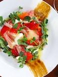 簡単おしゃれ!苺とモッツァレラ、生ハムの前菜
