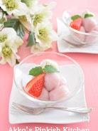 ストロベリーの白玉だんご 春色の和スイーツでなごみ時間♪