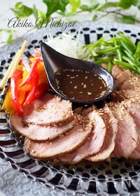 『驚くほど柔らかい煮豚の黒酢風味#炊飯器でスイッチポン!#簡単』
