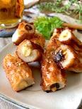 ちくわ史上最高おつまみ【クリームチーズ詰め】海苔佃煮となめ茸