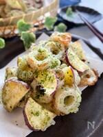少なめ材料で簡単に作る副菜 さつま芋とちくわの磯辺揚げ