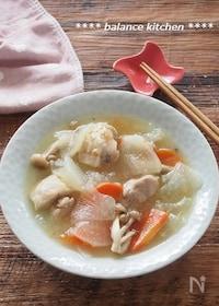 『放置で完成!とろとろ大根と鶏肉のうま塩スープ煮』