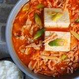 【簡単】フライパンで作る!お肉たっぷり豆腐チゲ