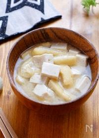 『【1週間献立用】豆腐と油揚げのお味噌汁』