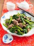 砂肝と空芯菜の炒めもの