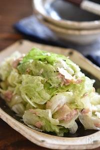 レタスとツナの塩だれサラダ【作り置き】