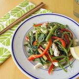 いかと空芯菜のアジアン炒めもの(夏の養生ごはん)