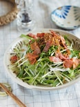 デリ風♪ごちそうドレッシングで食べる水菜の和風サラダ