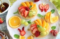 重ねなくてもインスタ映え!オープンパンケーキで贅沢朝ごはん♪
