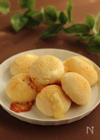 『チーズが溢れ出す!Wチーズの米粉豆腐パン【トースターで簡単】』