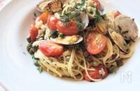 簡単10分レシピ『ディルとあさりとトマトのパスタ』