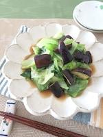 野菜たっぷり◎レタスとなすのオイスタージンジャー風味