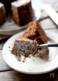 『レンジで作るふんわりチョコケーキ』