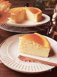 しゅわしゅわ~♪スライスチーズでスフレチーズケーキ♪