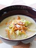 千切り人参とキャベツのスープ
