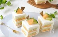2色が可愛い!!メロンサンドケーキ