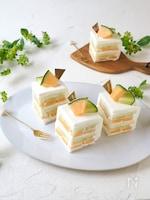 2色が可愛い!! メロンサンドケーキ