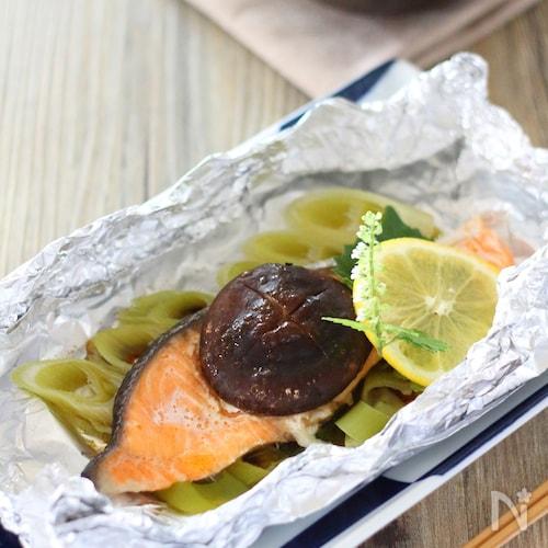 フライパン使用【鮭のホイル焼き】バター醤油味