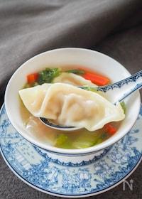 『豆腐と気づかれなかった!豆腐入り餃子と野菜のスープ』