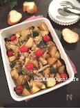 ジャガイモと鶏肉のスパイシオーブン焼き