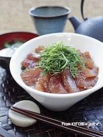 大人風味♬山葵がポイント‼︎まぐろの漬け丼♡