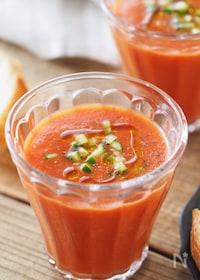 『【5分】トマトジュースで作る絶品ガスパチョ』