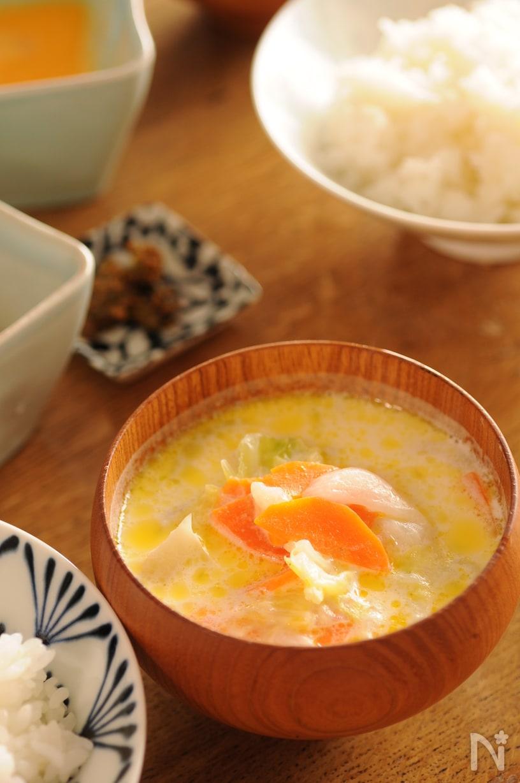 ミルク春野菜スープ