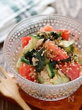 トマトときゅうりとわかめの中華サラダ【#切って和えるだけ】
