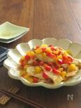 お弁当やおつまみに♪鶏むね肉とパプリカのゆずこしょう炒め