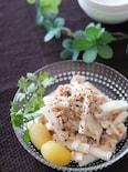 シンプルさっぱり♡長芋とツナのレモンオリーブオイル和え