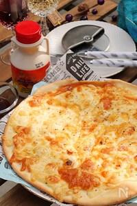 チーズたっぷり!とろける濃厚クアトロフォルマッジ♪
