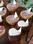 マシュマロで簡単 ミルクチーズタルト&チョコチーズタルト