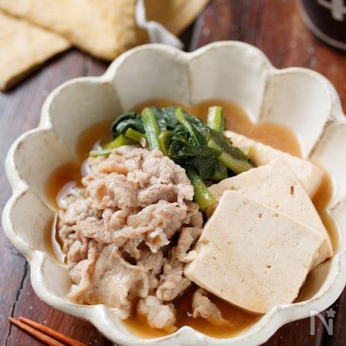 豚こまdeあんかけ肉豆腐【#お肉柔らか#とろみづけ不要】