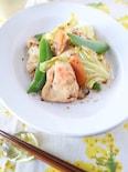 春野菜と鶏むね肉のマスタードしょうゆソテー