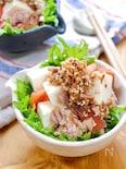 『豆腐とツナとトマトのサラダ』~胡麻おかかだれ~