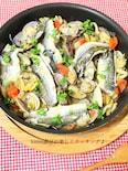 野菜も食べる♪カマスとアサリのアクアパッツァ