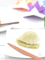 レンジで簡単☆白玉粉で柏餅