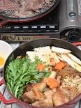 STAUB スキヤキ&グリルパンde豚バラすき焼き