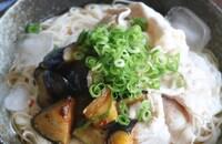 夏にぴったり!ピリ辛ナスと冷しゃぶの素麺♪