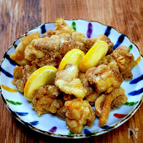 二種の味で楽しむ「塩から揚げ」ジンジャー&ガーリック