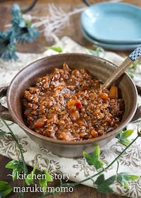 『作り置きにも便利な『ピリ辛肉味噌』で~ジャージャー麺と丼♪』