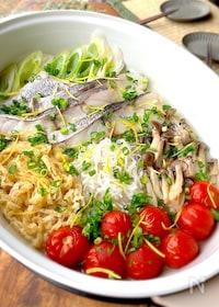 『ホットプレートで簡単に☆旨味たっぷり真鱈の蒸し煮』